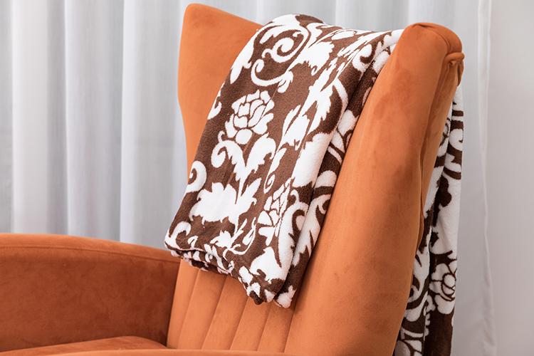 2021 vintage floral printing flannel fleece moving blanket