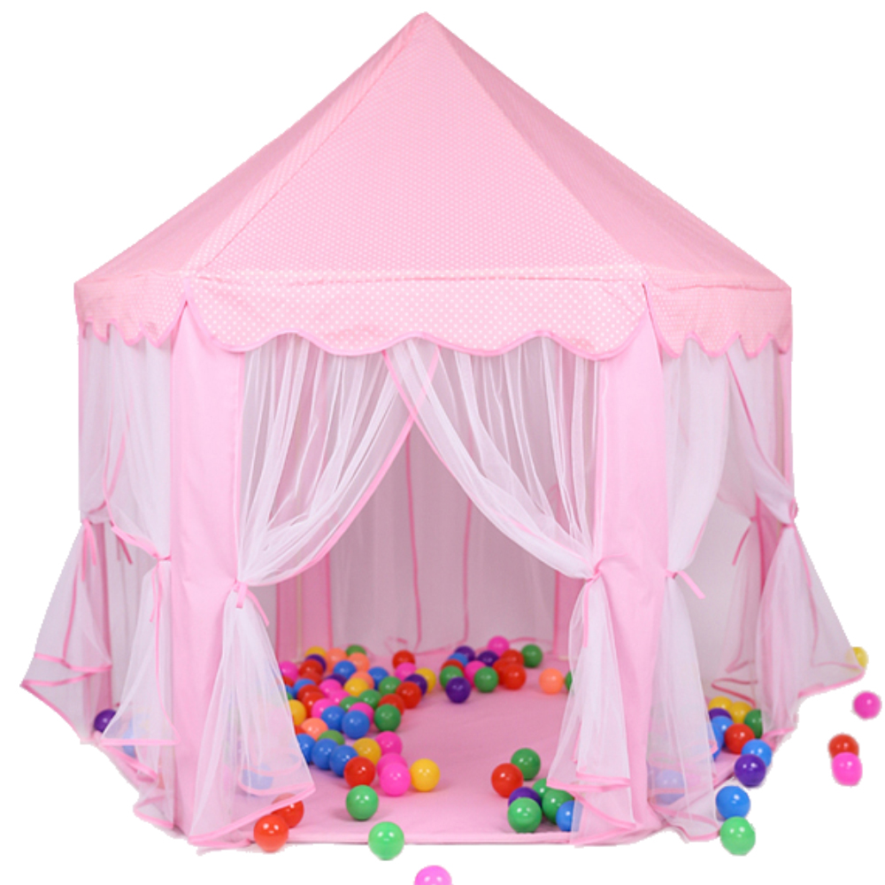 Child Playhouse Kids Pink Princess Play Castle Tent House for Girls