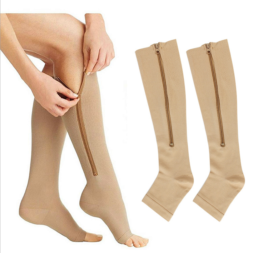 13485 approved medical compression socks 20 30mmhg with zip