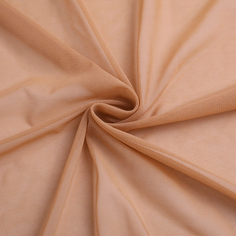 By Yard Elastic Nude Skin Human-like Color Stretch Power Mesh Soft poly spandex Lingerie Net Fabrics