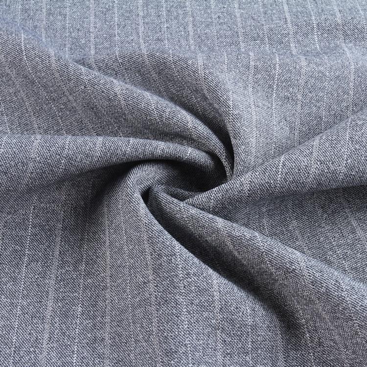 Весенне-осенний тканый окрашенный полиэстер вискоза спандекс классические полосы костюм женские брюки ткань