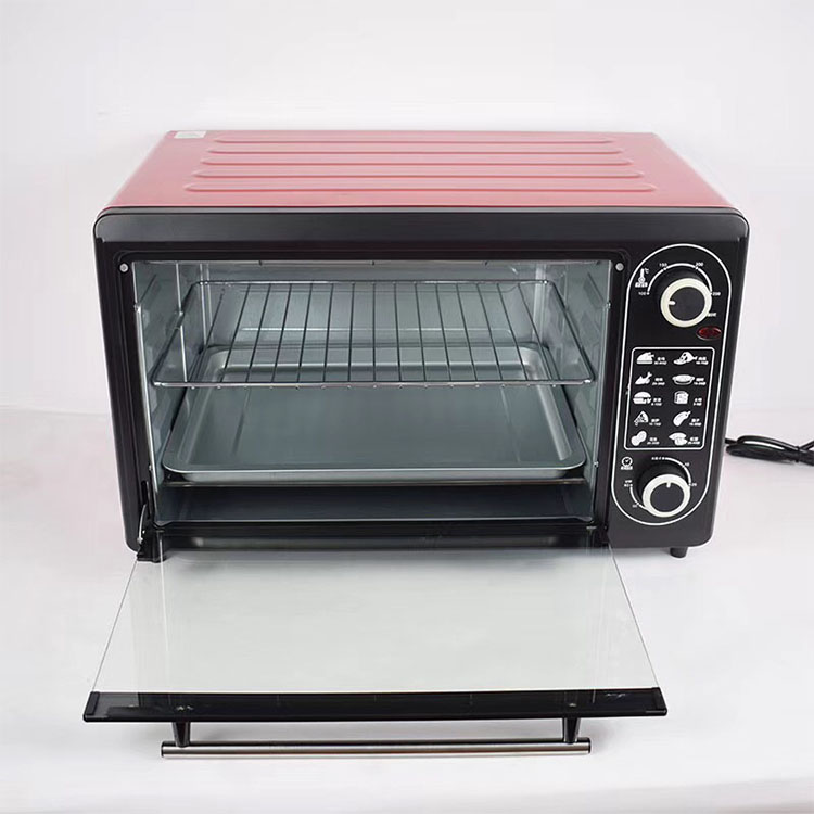 Kitchen appliance small portable Timer Control Glass hot plate 12L pizza baking electrical oven Toasters for home use