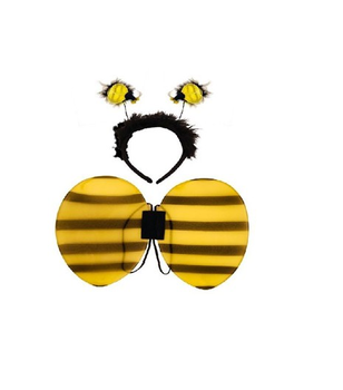 New Party Fancy Dress Yellow Bumble Bee Wings Wand Headband Bee Dress Up Adult Decor Hen Party