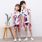 Boy's Children Cotton Pyjamas Wholesale Casual Children's Kids Boy's Summer Short Sleeve Cotton Pajamas Clothing Sets