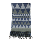 Triangle Hot Sale 100% Acrylic Triangle Woven Scarf With Long Tassels For Men