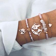 2020 богемные браслеты и Набор браслетов винтажная бусина Boho Шарм браслет для женщин ювелирные аксессуары Pulseras Mujer Bijoux Femme(Китай)