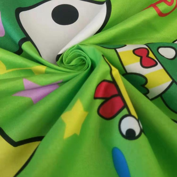Customized printing child cartoon character disperse/pigment print 100% polyester bed sheet sets fabric