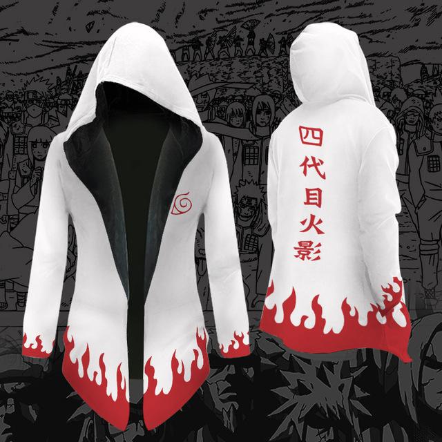 Anime Cosplay Costumes Naruto Windbreaker Demon Slayer Blade Hooded Jacket Anime Akatsuki Four Generations Naruto Costumes