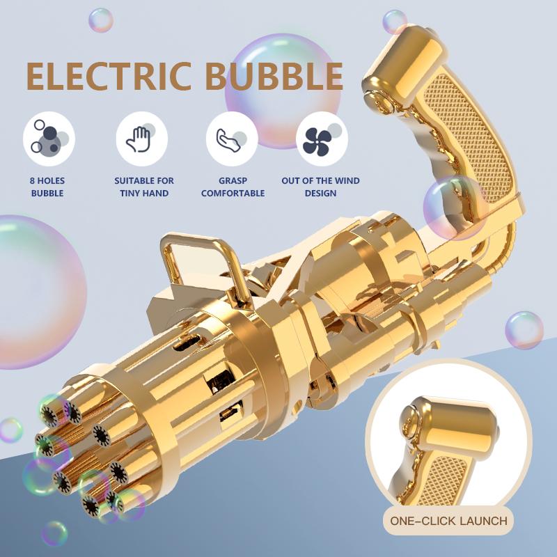GATLING Outdoor bubble gun Semi-automatic bubble gun toy for kids gift Quality Products handheld Black bubble gun