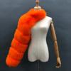 Orange fur sleeve