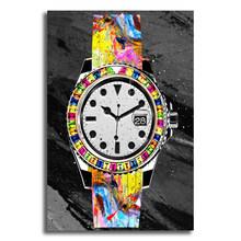 Холст настенное искусство часы Ролекс Поп-Арт холст HD Современное абстрактное искусство печать плакат офис спальня кафе украшение(Китай)