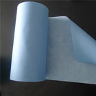 heavy duty woodpulp polyester disposable blue color shop towel , Industrial Roll Wipers Paper