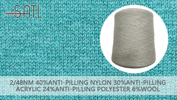Wholesale 40%Anti-pilling Nylon 30%Anti-pilling Acrylic 24%Anti-pilling Polyester 6%Wool Knitting Yarn 2/48nm