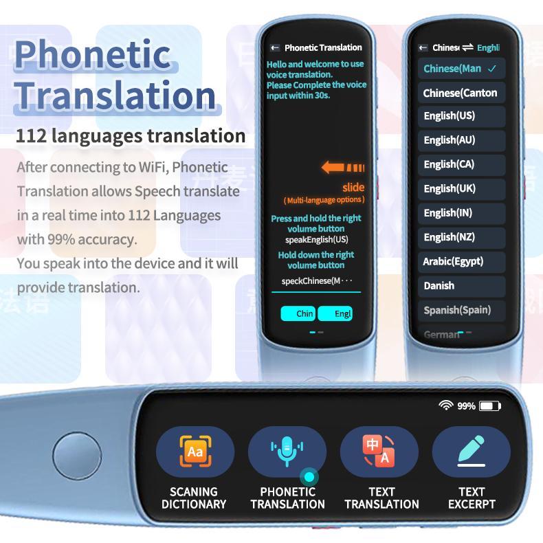 Pen Language Translator Book Translating Pen Digital Reader Instant Translation Pen