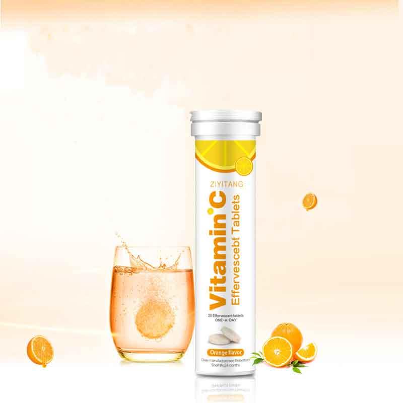 Частная марка, потеря веса, красота, напиток из апельсинов, витамин С, шипучие таблетки для ухода за кожей, OEM