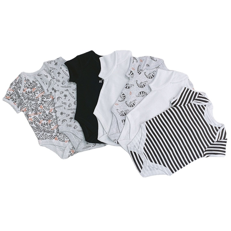 Custom Baby's Short Sleeve Romper Toddler Creeper Kids Bodysuit Girls Jumpsuit Children Inner Wear Cotton Clothes