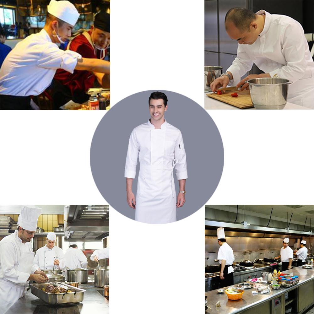 Custom High Quality Long Sleeve Stand Collar Hotel Restaurant Service Staff Uniform Sushi Chef Uniform For Men