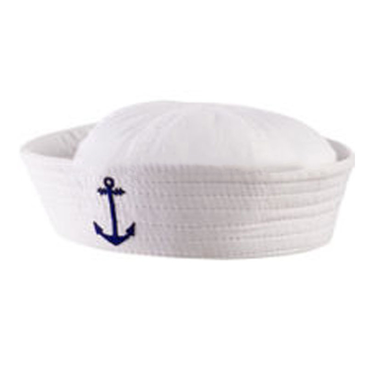 custom design high quality white embroidered sailor hat