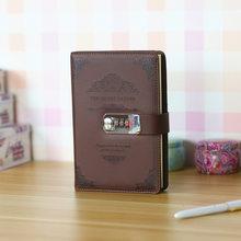 Кожаный блокнот в стиле ретро с паролем, кожаная записная книжка 2020, кожаная записная книжка, канцелярские принадлежности, органайзер для п...(Китай)