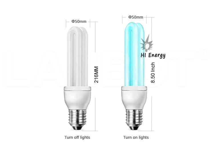 Hot Sale AC110V 220V uv ultraviolet disinfection light bulb 25W 30W