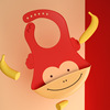 Banana and monkey