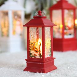 Christmas lantern candlestick lamp night light old man snowman decoration night light desktop ornaments
