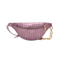 Женская однотонная поясная сумка из искусственной кожи с рисунком аллигатора, нагрудная сумка через плечо, модная сумка(Китай)