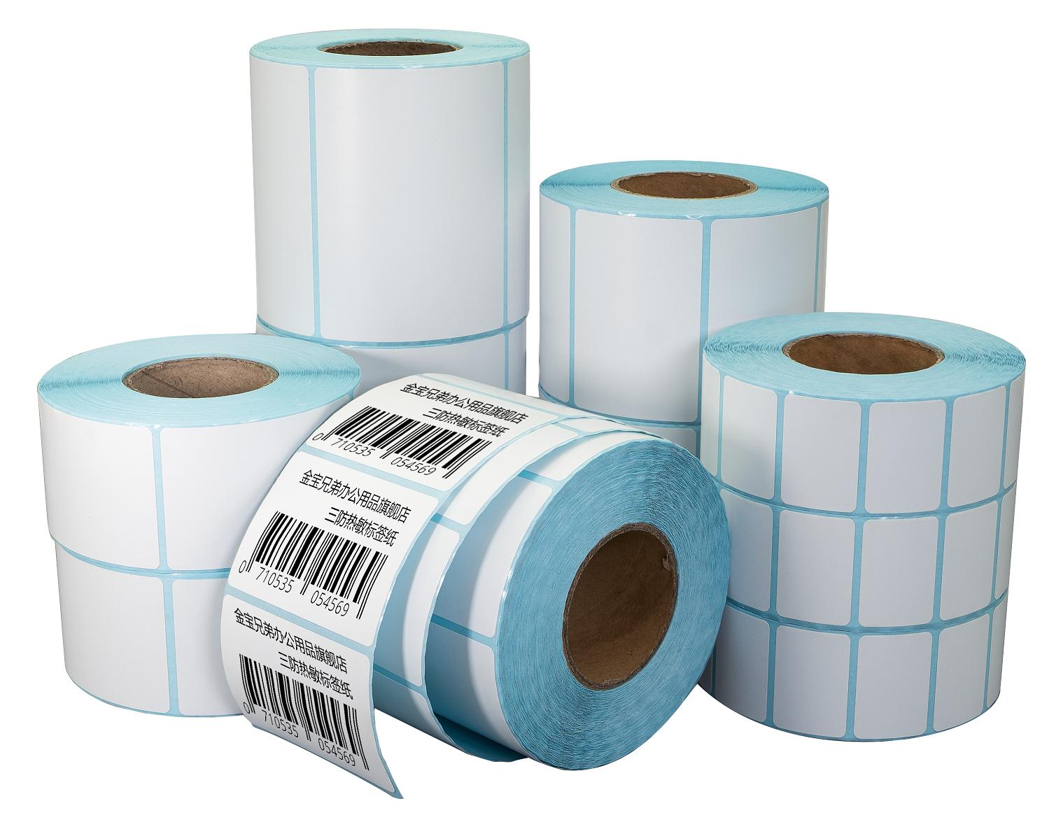 4 6 дюймов термальный слипчивый стикер этикетка рулон бумаги для штрих-кодов логистики доставка термопринтер печати этикеток наклейка упаковка