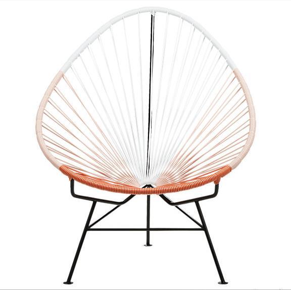 Уличная мебель из ротанга, дизайнерское кресло в форме листа, водонепроницаемый плетеный стул