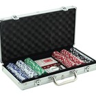 500 Pieces Design Logo Clay Poker Chips Set with Black Aluminium Case