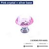 Pink crystal + silver base