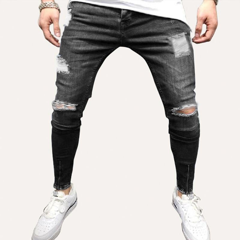 Pantalones Vaqueros De Moda Para Hombre Pantalones Rasgados De Pureza Concisos Y De Moda Novedad Buy Vaqueros Rasgados A La Moda Para Hombre New Arriver Piece Product On Alibaba Com