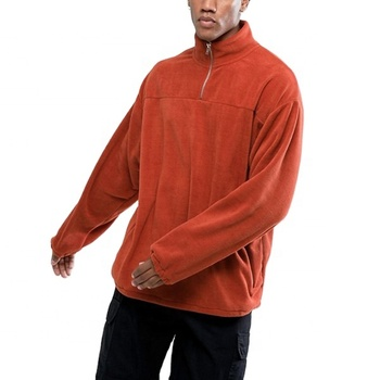 OEM new products 2018 high neck half zip fleece pullover men