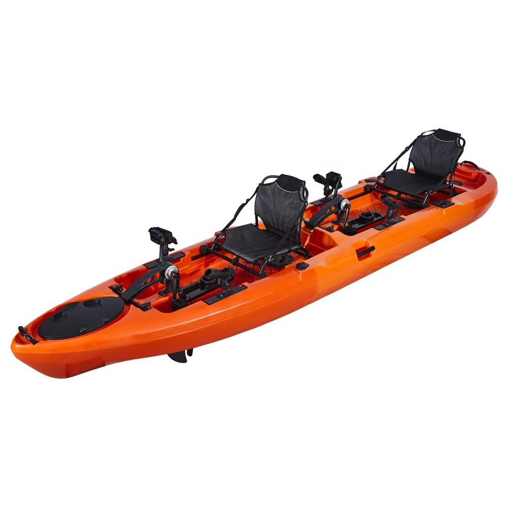 Factory Wholesale 14ft Two Person Pedal Fishing Kayak 2 Person