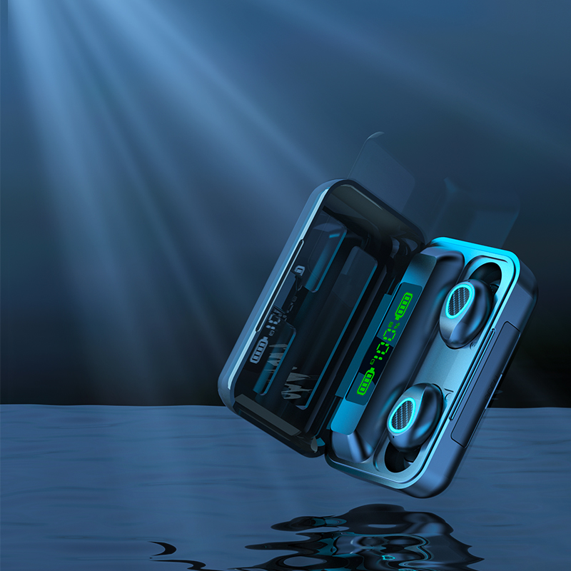 TWS-стереонаушники R15 5,0 с зарядным футляром на 2200 мА · ч