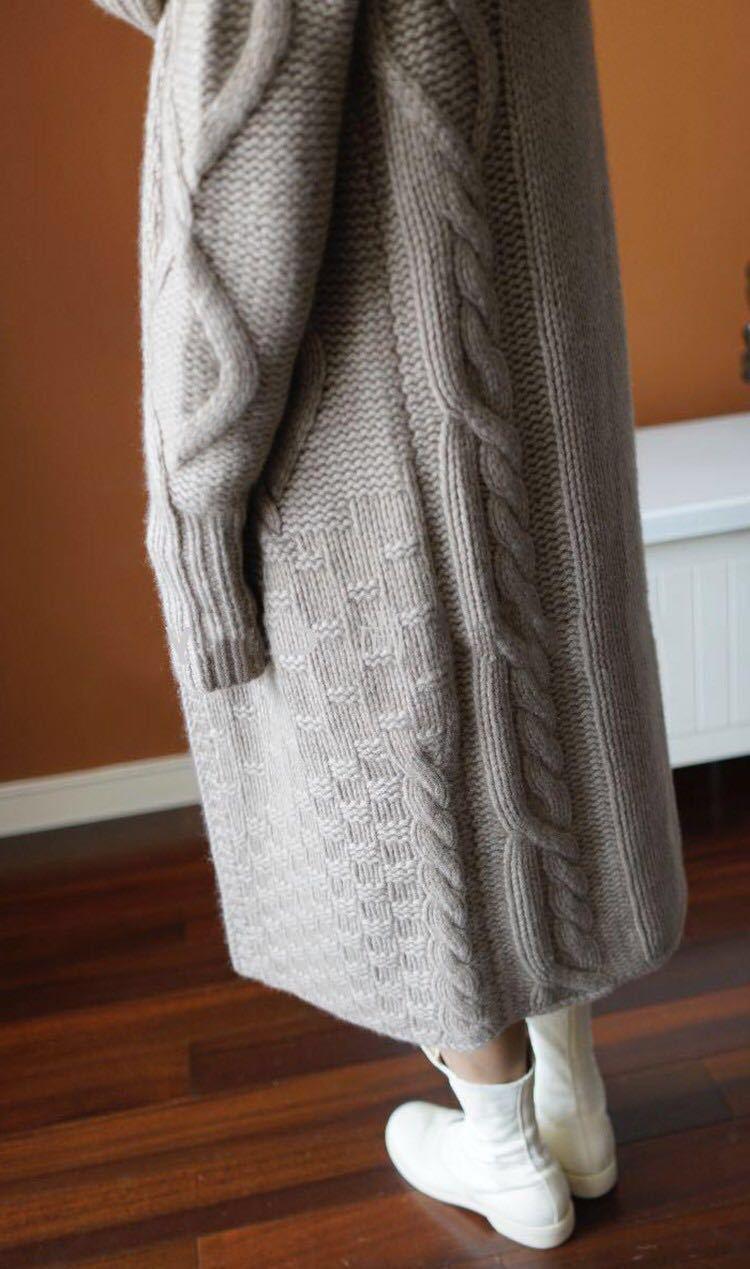 2021 осень зима с капюшоном толстый вязаный свободный большой размер длинный кардиган свитер пальто для женщин и женщин