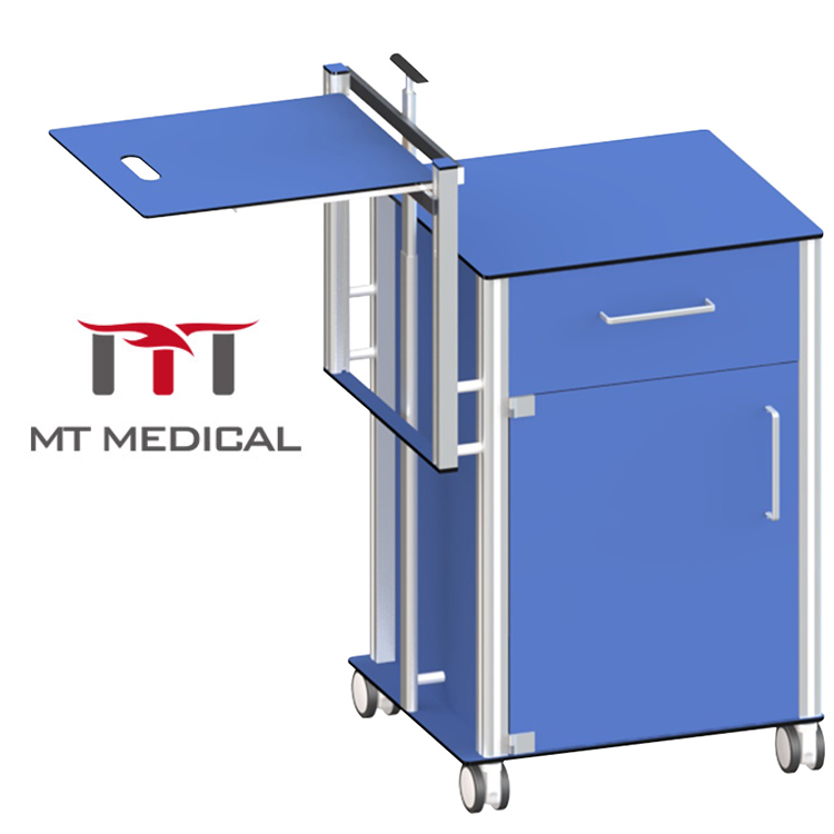 Factory Table Multi Color Medical Clinic Hospital Patient Bedside Cabinet with Dining Table