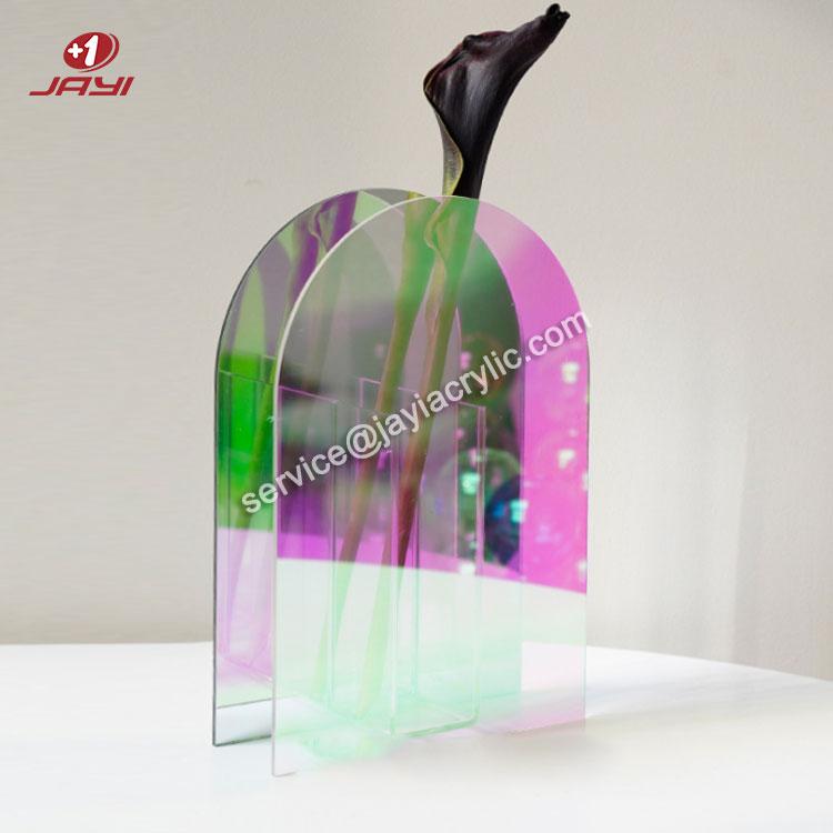 JAYI оптовая продажа, сделанная на заказ акриловая ваза для цветов высокого качества, форма и размер