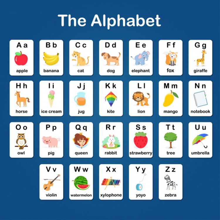 Кольцо на заказ печатные образовательные карты слова обучение детей флэш-карты