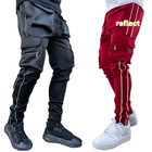 2021 top ranking Men's Stretch Sweatpants slim Solid Color GYM pants jogger reflect Running training jogging pants man