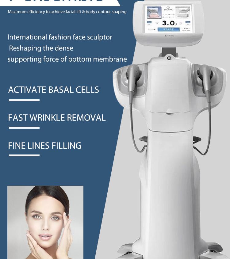 Beauty machine 7D anti wrinkle treatment wrinkle face lift ultraform /Ultra iii former machine SMAS hifu7d for weight loss