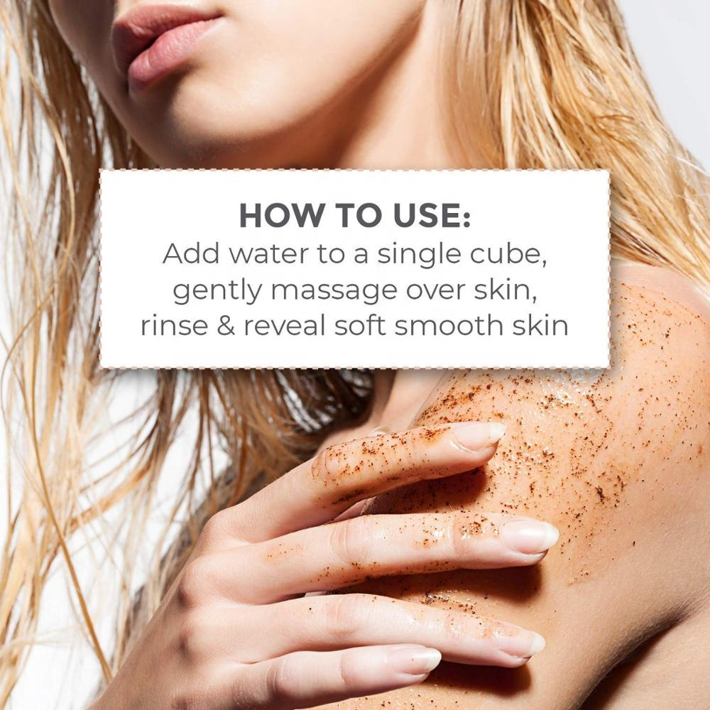 OEM/ODM Private Label Smooth Skin Sugar Scrub Cubes Exfoliating Body Scrub