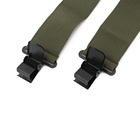 Duty Belt Heavy Duty Work Multi-function Custom Design Logo 4 Clips Black Elastic Button Brace Suspenders Belt For Men