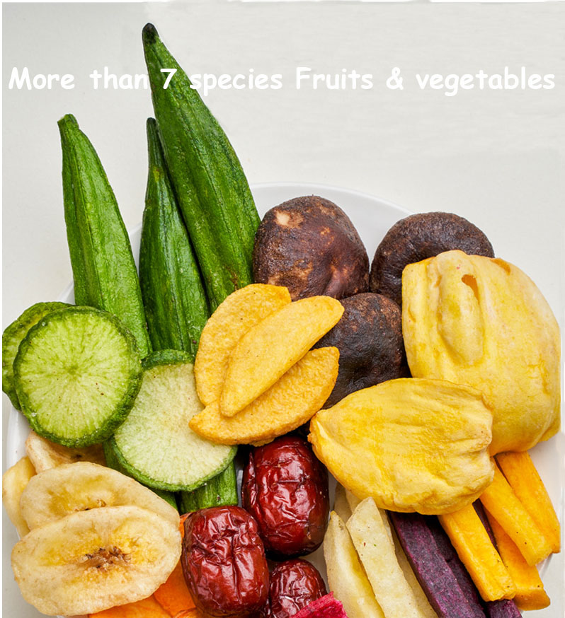 Оптовая продажа с завода OEM, целая коробка смешанных овощей и фруктов, хрустящие закуски