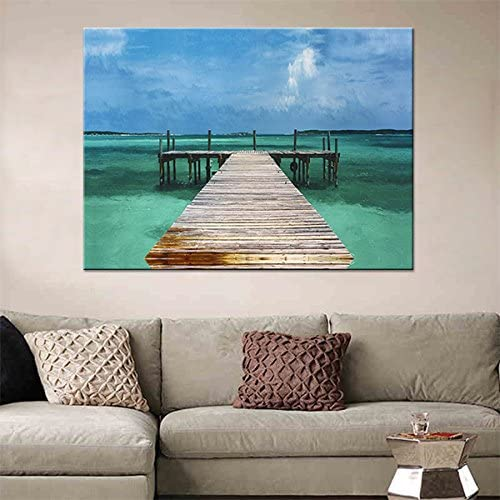 Blue Beach Canvas Wall Art