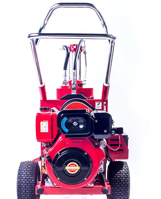 Бензиновая безвоздушная краскораспылительная машина для распыления шпатлевки