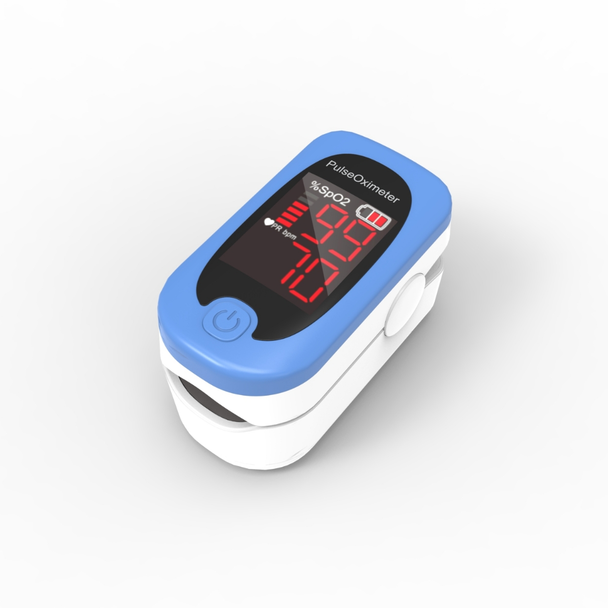 Светодиодный измеритель пульса и уровня кислорода в крови, прибор для измерения пульса и уровня кислорода в крови, Оксиметрия SpO2, на палец