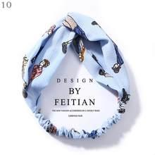 Женский мягкий широкий эластичный Эластичный Тюрбан, однотонный хлопковый головной платок, аксессуары для волос на осень, 2020(Китай)