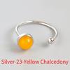 Silver-23 Yellow Chalcedony