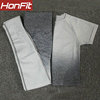 Grey short sleeve top set